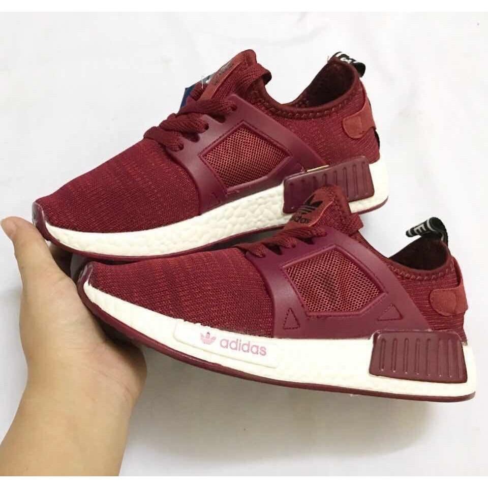 [FREE SHIP] Giày Adidas NMD XR1 màu đỏ đô đỏ mận