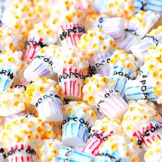 10Pcs Popcorn DIY Slime Charms Supplies Accessories For Slime Filler Miniature Resin Kids Polymer Plasticine Gift