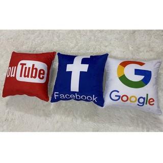 Gối tựa lưng facebook, youtube, google, shopee, zalo, tiktok thumbnail