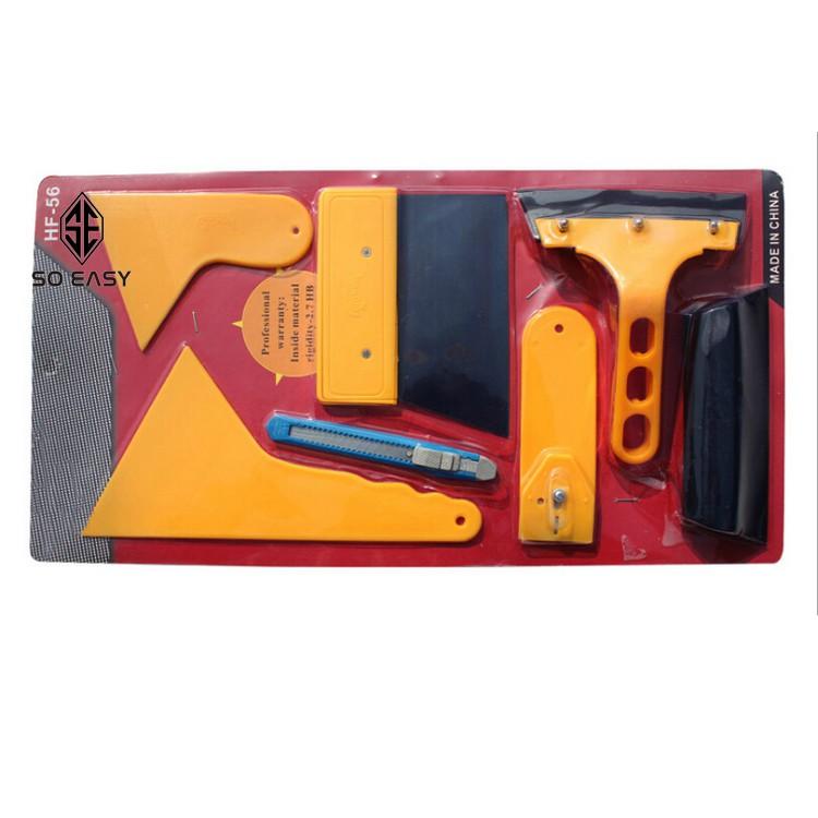Trọn Bộ 7 món dụng cụ, tấm, miếng,dao nhựa hỗ trợ dán phim,decal trang trí xe,miếng dán cường lực cạo,tháo decal cũ