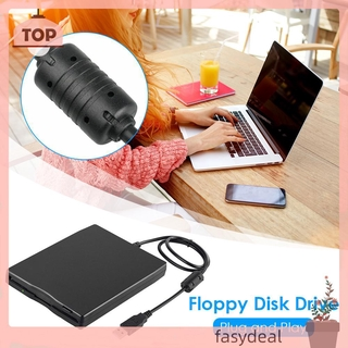 (☼fasydeal)3.5 inch USB Mobile Floppy Disk Drive Portable 1.44MB External Diskette FDD