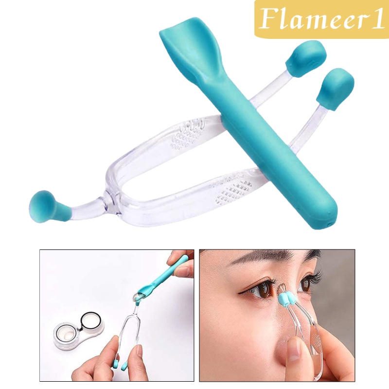 [FLAMEER1] Contact Lens Remover Inserter Suction Cup Device RGP with Carrying Case Blue