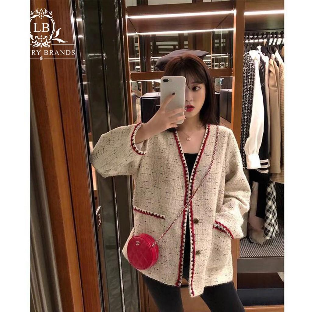 [CÓ SẴN] Áo khoác dạ tweed thu đông sang trọng tiểu thư bánh bèo quý tộc Anh ulzzang Hàn Quốc hàng l1