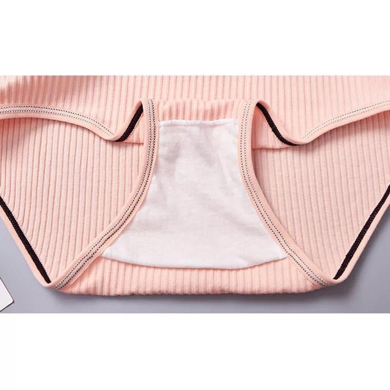 [Set 10 quần] Quần lót nữ Muji cotton gân tăm phối nơ xinh | SaleOff247