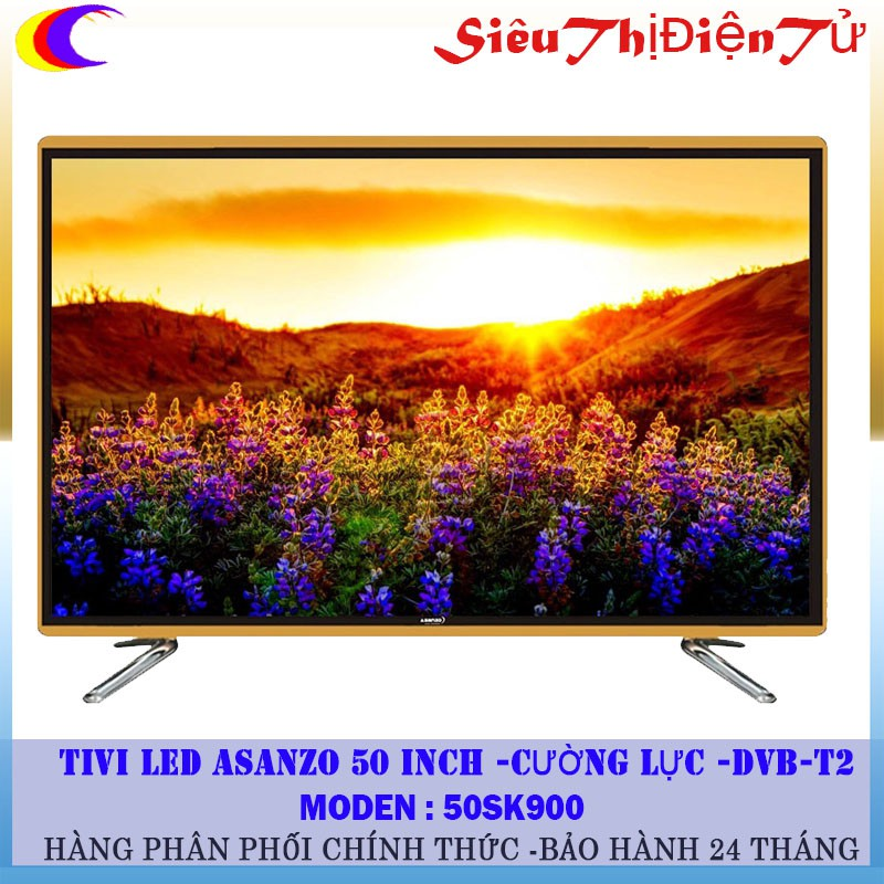 Smart TV Asanzo 50 inch 50SK900 cường lực có DVB T2