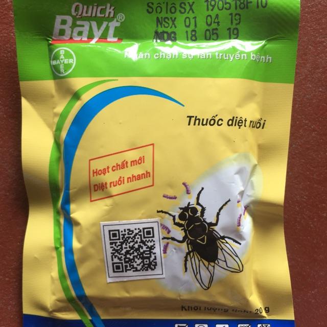 [ Combo 10 gói ] Thuốc diệt ruồi CHLB Đức { sản xuất tại Hà Lan }| Quick Bayt 20g