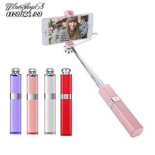 [Tặng thẻ ĐT 20k] Gậy tự sướng cao cấp sang chảnh hình thỏi son nhiều màu + tặng túi đựng đẹp Lip Selfie mini giá tốt