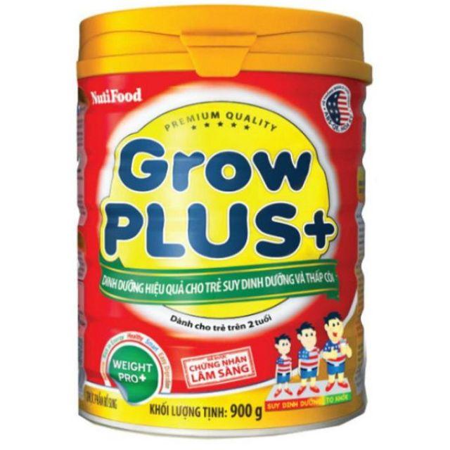 Sữa bột Nutifood Grow Plus màu đỏ hộp 400g, 900g