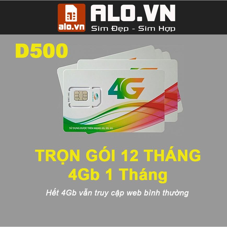 [GIẢM GIÁ HẾT HÔM NAY]- SIM 4G VIETTEL MIỄN PHÍ 48GB DATA - 4GB/THÁNG D500 – ALO.VN