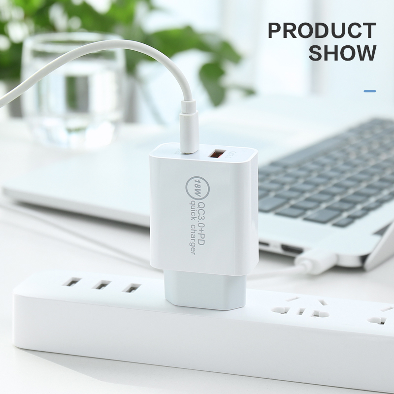 Củ sạc KCO PD08 hỗ trợ sạc nhanh 18W QC 3.0 cổng USB-C dành cho iPhone 12/ Mini/Pro/ Pro Max, iPad Pro