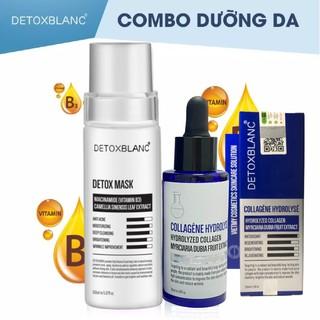 Combo Mặt nạ thải độc + Colagen trắng da DETOX BLANC detox.hcm