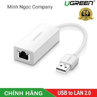 Cáp chuyển USB 2.0 to LAN RJ45 dành cho PC, Macbook (sản phẩm cao cấp Ugreen 20253) - Hàng chính hãng bảo hành 18 tháng thumbnail