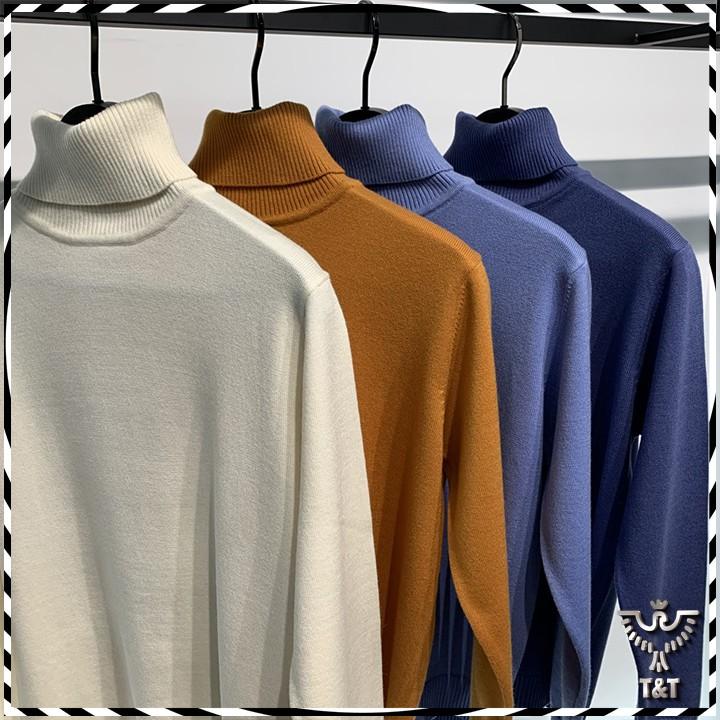 Áo len nam cổ lọ kiểu dáng hàn quốc mẫu mới nhất 2020 AL01
