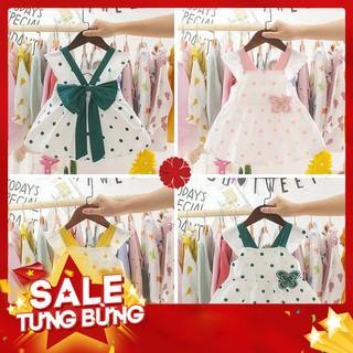 Đầm chấm bi thiết kế phối nơ bướm bản to xinh xắn dành cho bé gái 0 -3 tuổi -Hàng nhập khẩu