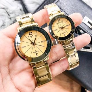 đồng hồ đôi nam nữ halei HLS01 chống nước chống xước,tặng kèm vòng tì hưu
