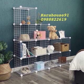 [BÁN THEO TẤM]- Tấm Lưới sắt thép lắp ghép đa năng giá để sách, đồ trang trí, chuồng quây chó mèo, decor trang trí nhà thumbnail