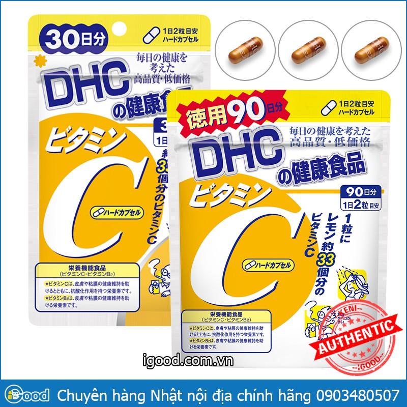 [Mã COS1111 giảm 8% đơn 250K] Viên uống vitamin C DHC Hard Capsule Nhật Bản (date 2023)