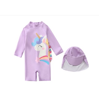 (có sẵn) Bộ bơi cho bé gái hình ngựa pony
