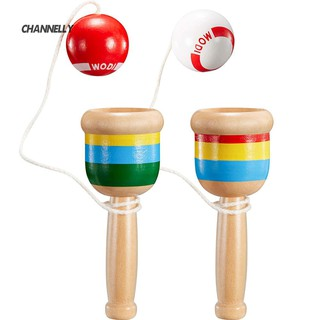 ■Cy Classic Wooden Kendama Cup Ball Toss Catching Game Educational Kid Toy Gift