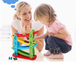 Đồ chơi gỗ Đồ chơi băng trượt ô tô zic zac 4 tầng cho bé