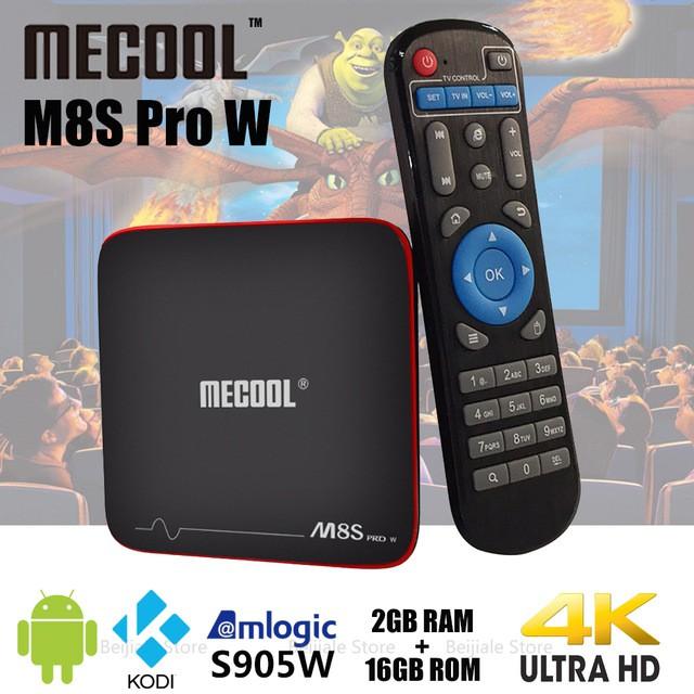 Android Tivibox Mecool M8S Pro W RAM 2GB, ROM 16GB (Bảo hành 12 tháng)