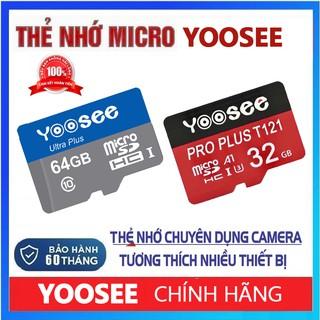 Thẻ Nhớ MicroSDHC 64GB 32GB YOOSEE Ultra Class 10 Chuyên Dụng Camera Tương Thích Nhiều Thiết Bị BẢO HÀNH 60 THÁNG