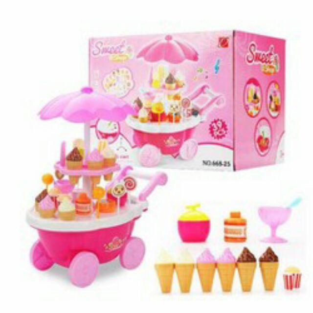Nhập MYLY81011 Giảm ngay 20k cho đơn 250k.Đồ chơi bé gái,đồ chơi an toàn,Quầy bán kem và bánh ngọt di động