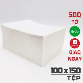 500 tờ giấy A6 in đơn hàng TMĐT Shopee và Nhãn tem vận chuyển size 100×150 mm 10×15 cm