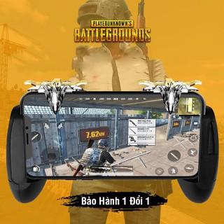 Bộ 2 nút bấm chơi game sinh tồn thép loại trong suốt 4 ngón điều khiển khi chơi trên mobile Chammart