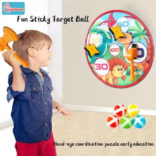 Children's cartoon sticky target ball dart sucker ball target indoor outdoor sports throwing toy early education toys