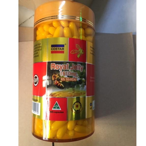Sữa ong chúa úc costar Royal Jelly 1610mg 6% 10 HDA Úc (365