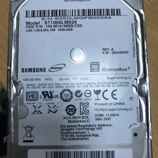 Ổ cứng HDD laptop 1T – New