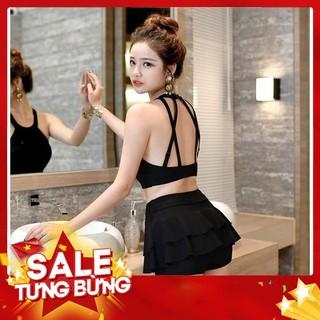 Bộ Bikini Áo Tắm Đan Chéo Dây Lưng 2 Mảnh Đi Biển Phong Cách Hàn Quốc – Hàng nhập khẩu