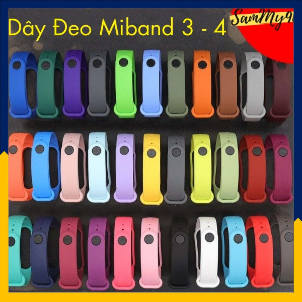 Dây Đeo MIBAND 3 - MIBAND 4 Cao Cấp Cho Đồng Hồ Thông Minh XIAOMI MIBAND 3 – MIBAND 4  Chất Lượng Cao - SamMy96 Shop