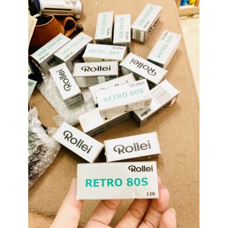film 120 ROLLEI RETRO 80S, film BW , film trắn