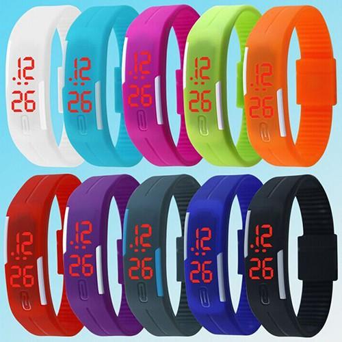 Đồng hồ điện tử Silicon tích hợp LED cho nam/nữ