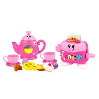 Bộ đồ chơi đồ hàng nhà bếp cho bé - Set trà chiều vui nhộn kèm máy nướng bánh Winfun 3155G