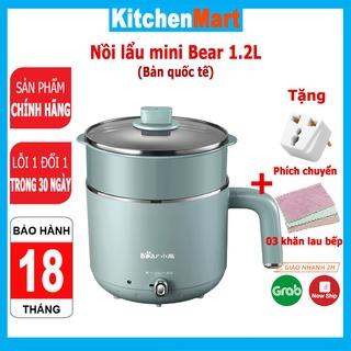 Nồi lẩu điện mini đa năng Bear dung tích 1.2L và 2.5L nồi lẩu điện đa năng 5 chức năng - KitchenMart (Bảo hành 18 tháng) thumbnail