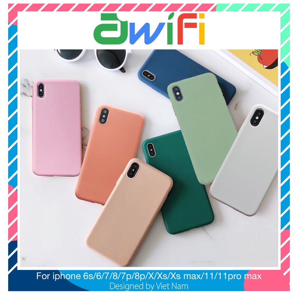 Ốp iphone - Ốp lưng Mềm mại 5s/6/6s/6plus/6s plus/7/8/7plus/8plus/x/xs/xs max/11/11promax 2 ( 7 mẫu ) - Awifi Case F1-5