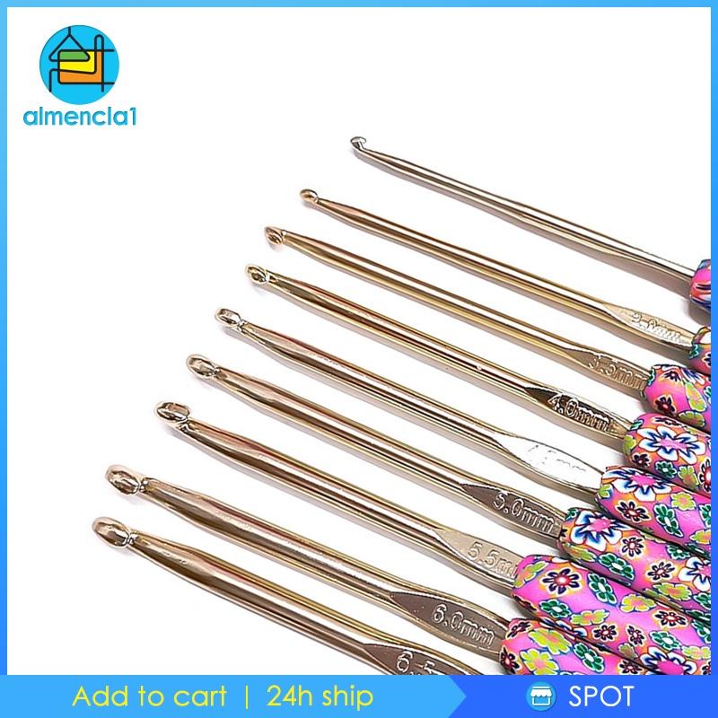 Set 9 Kim Móc Len Mềm 2.5mm-6.5mm Nhiều Màu Sắc Dành Cho Nữ