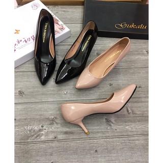 Guốc nữ/ giày cao gót đế nhọn 5p lên chân cực xinh ( ảnh thật 100%)