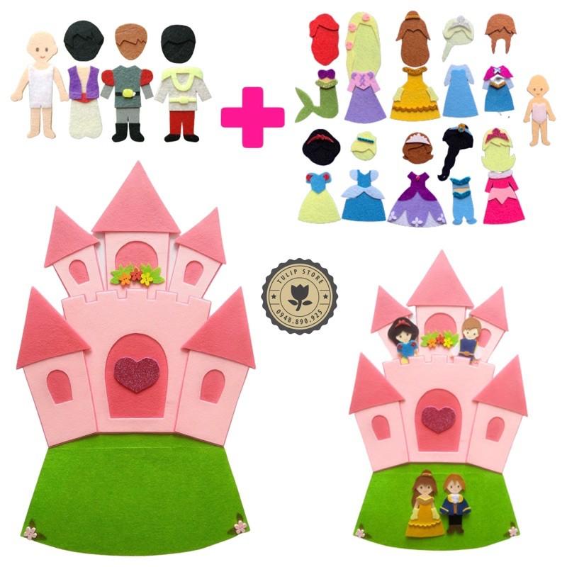 Lâu đài Công chúa & Set Hoàng tử Disney