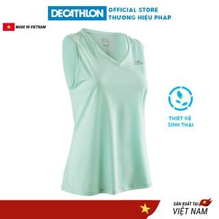 Áo thun thể thao tank-top nữ run dry KALENJI chuyên chạy bộ, nhanh khô - xanh lá cây nhạt thumbnail