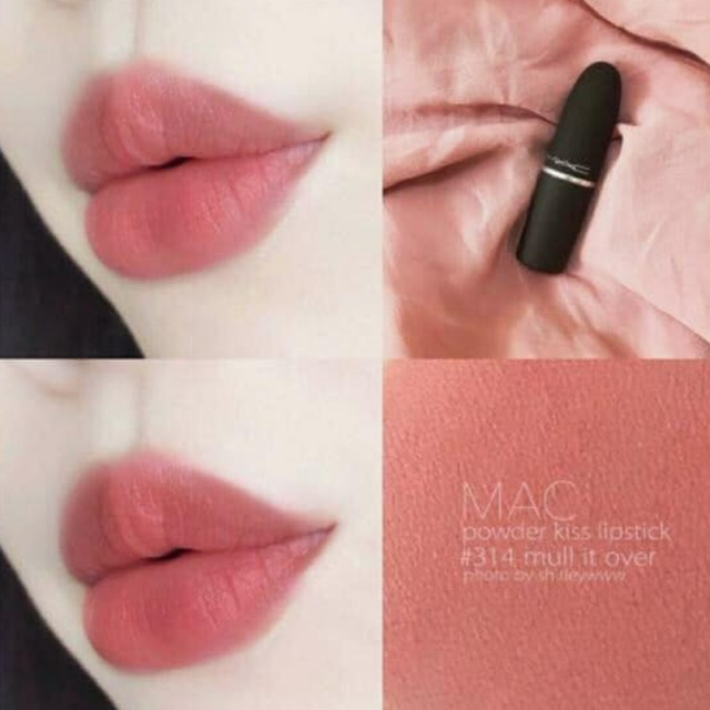 Son MAC 314 Mull It Over – Powder Kiss Lipstick | Shopee Việt Nam