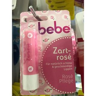 ( Hàng Đức chuẩn)Son dưỡng môi BeBe hương hoa hồng cho sắc môi hồng xinh và luôn rạng rỡ