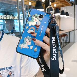 Ốp Điện Thoại Họa Tiết Kỳ Lân Hoạt Hình Dễ Thương Kèm Dây Đeo Cổ Tay Cho Iphone 7 Plus