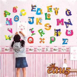 ☜♠☞A-Z Alphabet&Animals Wall Sticker Mural PVC Decals Kids Baby Nursery Decor