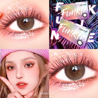 Kính áp tròng xám tây tự nhiên Funkie thương hiệu Angel Eyes đường kính nhỏ có độ từ 0 đến 6