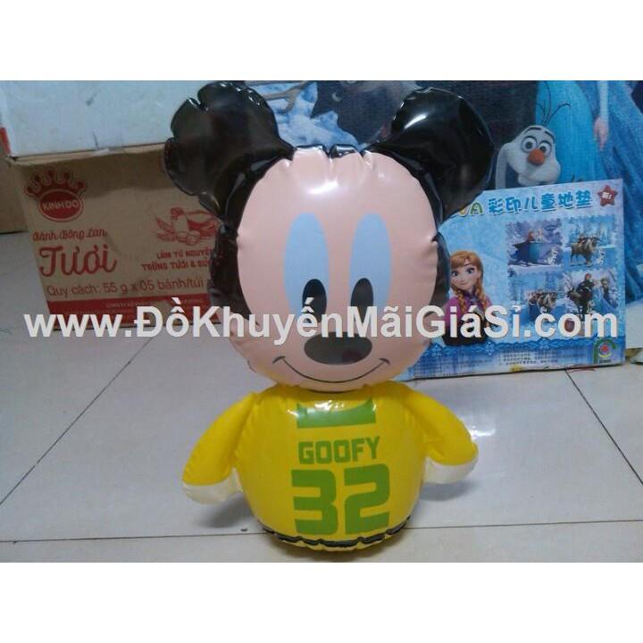 Lật đật bơm hơi có lục lạc hình chuột Mickey của sữa Dumex tặng.