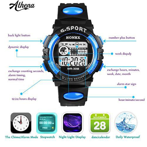 Đồng hồ đeo tay thể thao chống nước cho nam
